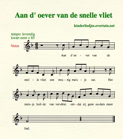 sheet music old dutch children's songs translated english translation sad girl