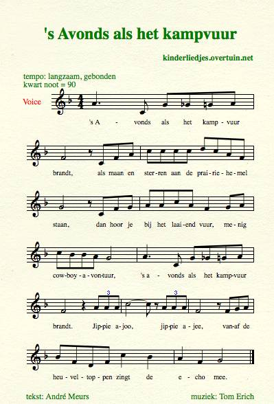 sheet music dutch schoolyard songs school children translated english translation campfire