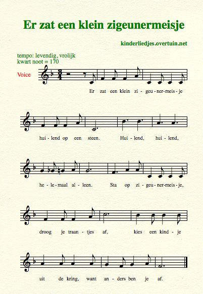 sheet music dutch schoolyard songs school children translated english translation gipsy-girl