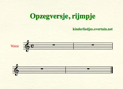 sheet music dutch children's rhyme nibbling