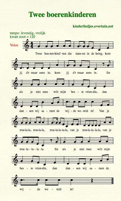 sheet music dutch schoolyard songs school children translated english translation farmers dancing