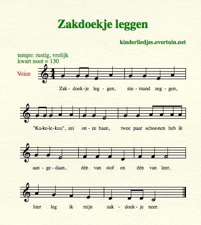 sheet music dutch schoolyard songs school children translated english translation handkerchief
