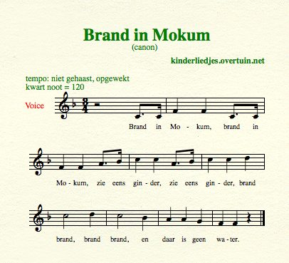 sheet music dutch folk song canons mokum burning thumb