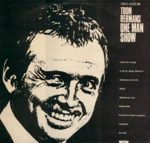 picture record cover toon hermans one man show 1969
